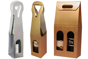 gold linen wine gift boxes