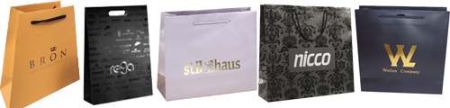laminated paper bags with hot stamping