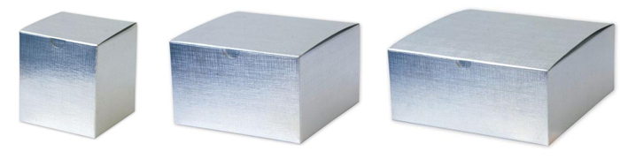 silver linen gift boxes