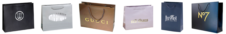 luxury paper bags with hot stamping