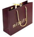 luxury paper bags with hot stamping and embossing logo