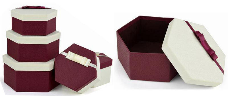 hexagon shape luxury gift boxes