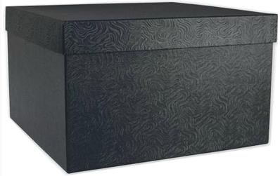 Black Rigid Gift Boxes With Texture Finishes